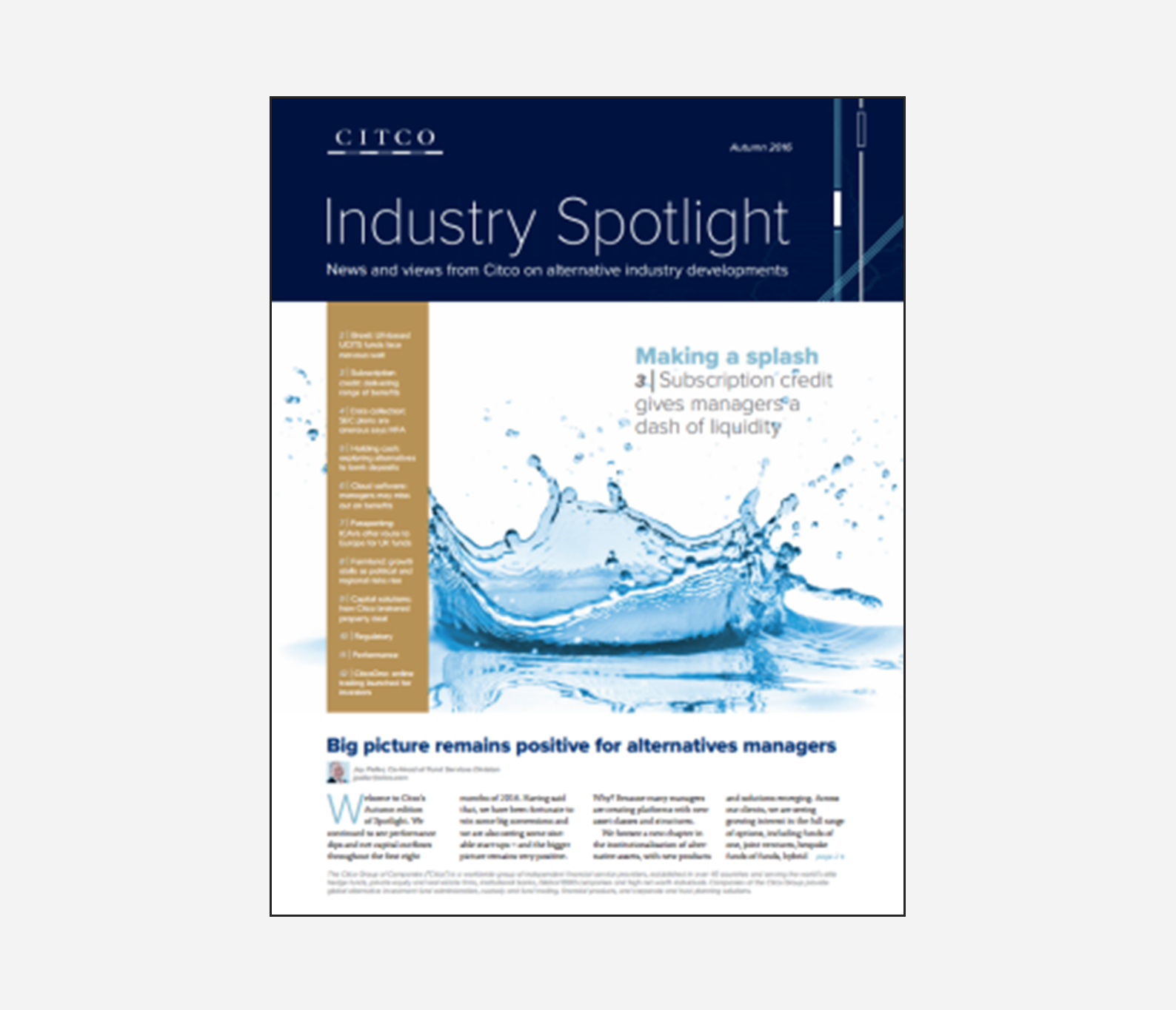Citco Industry Spotlight - Autumn 2016